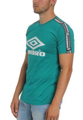 Umbro T-Shirt Herren TAPED CREW TEE UMTM0234 PA1 Türkis Parasail – Bild 1