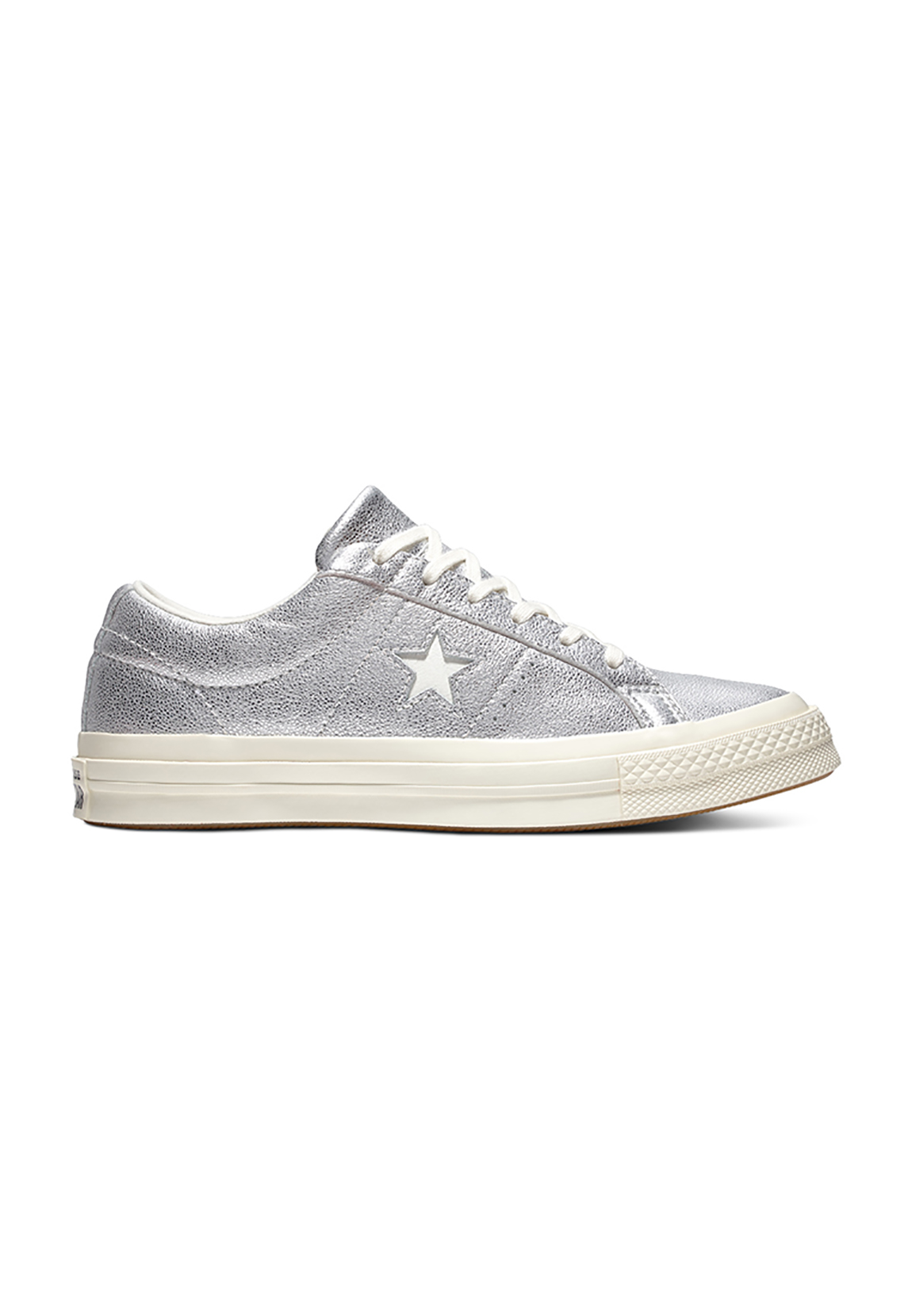 c7e0113d996c5 Converse Trainers One Star Ox 161590C Silver