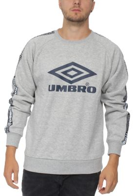 Umbro Sweatshirt Herren TAPED CREW SWEAT 263 Grey Marl – Bild 0