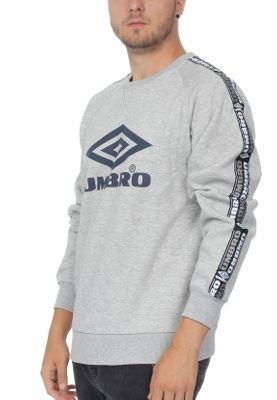 Umbro Sweatshirt Herren TAPED CREW SWEAT 263 Grey Marl – Bild 1