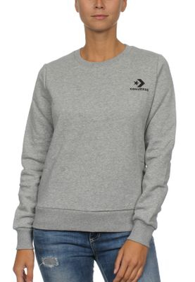 Converse Sweatshirt Damen STAR CHEVRON EMB CREW 10008820 Vintage Grey Heather 035 – Bild 0