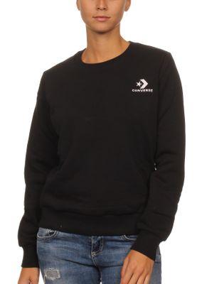 Converse Sweatshirt Damen STAR CHEVRON EMB CREW 10008820 Schwarz 001  – Bild 0