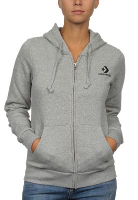 Converse Zipper Damen STAR CHEVRON EMB FZ HOODIE 10008818 Vintage Grey Heather 035 – Bild 0