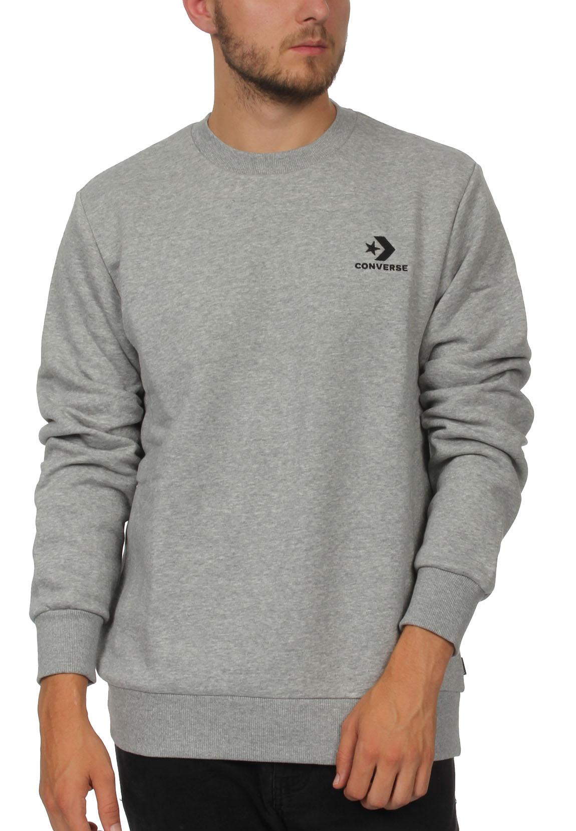 Converse Sweatshirt Herren STAR CHEVRON EMB CREW 10008816 Vintage Grey Heather 035