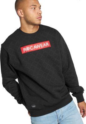 Rocawear Crewneck Herren CHECKED RWCN007BLK Schwarz Black – Bild 0