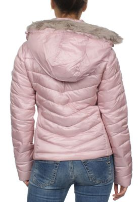 Superdry Damen Jacke HOODED LUXE CHEVRON FUJI Rose Quartz  – Bild 2