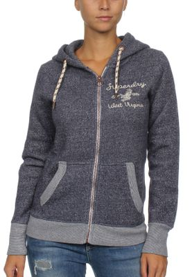 Superdry Damen Zipper RYLEE EMBROIDERED Colorado Navy Marl – Bild 0