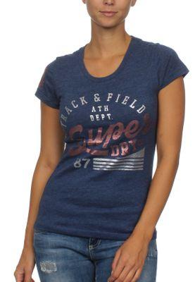 Superdry Damen T-Shirt TRACK & FIELD Track Star Navy Marl – Bild 0
