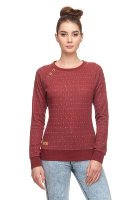 Ragwear Sweater Damen DARIA DOTS 1821-30003 Rot Red 4000