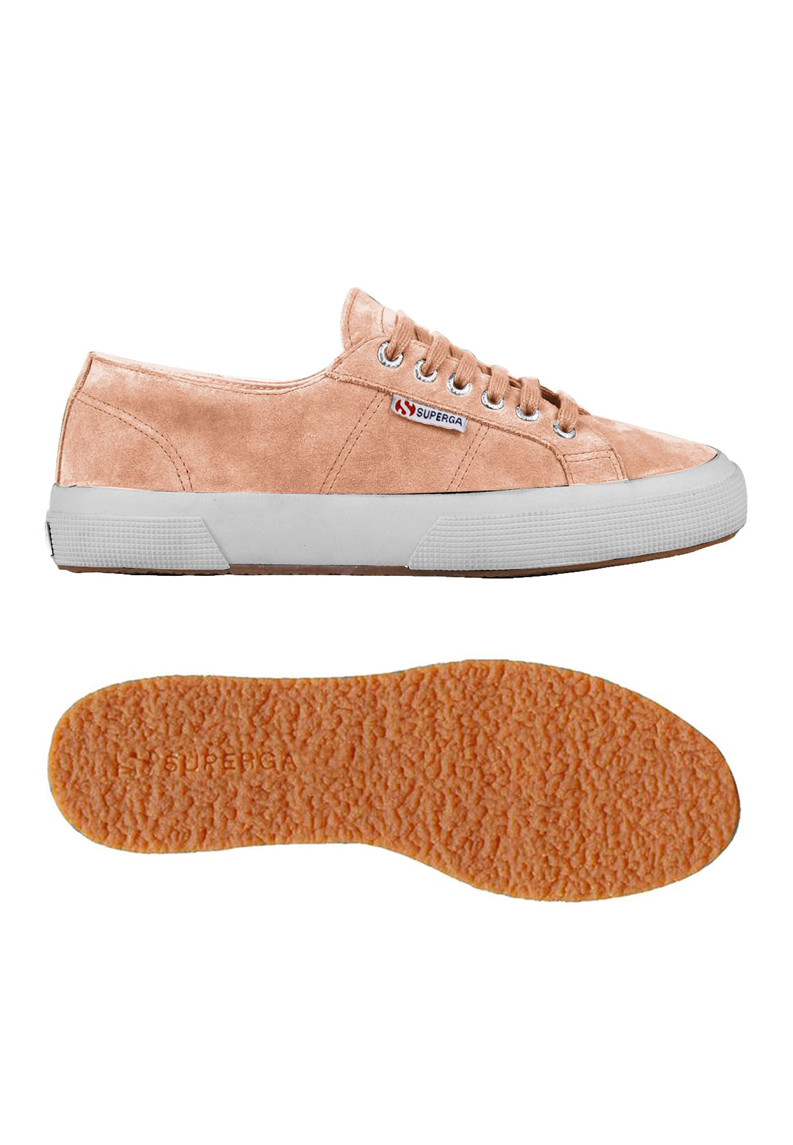 3d71a45b3b2e8 Details about Superga Trainers 2750 Sueu S003sr0 182 Pink Peach Tropical