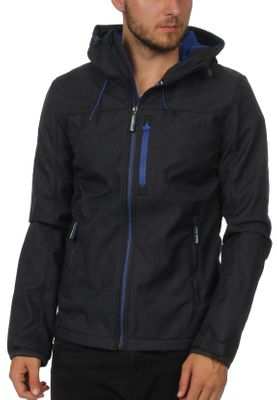 Superdry Jacke Herren HOODED WINDTREKKER Moody Blue Marl Flash Cobalt – Bild 0