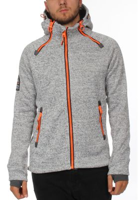 Superdry Zipper Herren STORM DOUBLE ZIPHOOD Light Grey Grit – Bild 0