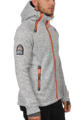 Superdry Zipper Herren STORM DOUBLE ZIPHOOD Light Grey Grit – Bild 1