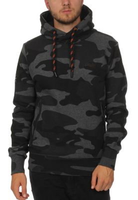 Superdry Sweater Herren ORANGE LABEL URBAN HOOD Urban Charcoal Camo  – Bild 0