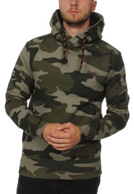 Superdry Sweater Herren ORANGE LABEL URBAN HOOD Urban Green Camo – Bild 0