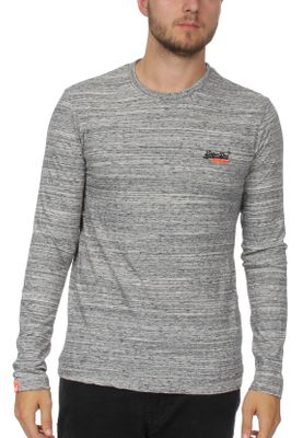 Superdry Longsleeve Herren ORANGE LABEL VNTGE EMB LS TEE Alaska Grey Space Dye  – Bild 0
