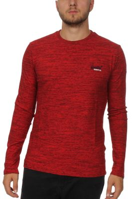 Superdry Longsleeve Herren ORANGE LABEL VNTGE EMB LS TEE Alabama Red Space Dye  – Bild 0