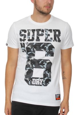 Superdry T-Shirt Herren SUPER NO 6 TEE Optic – Bild 0
