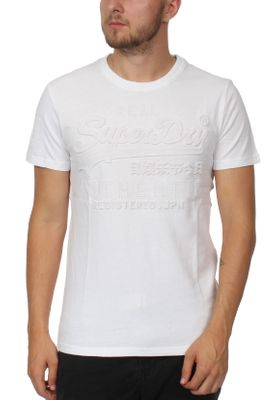 Superdry T-Shirt Herren VINTAGE AUTHETIC EMBOSSED TEE Optic – Bild 0