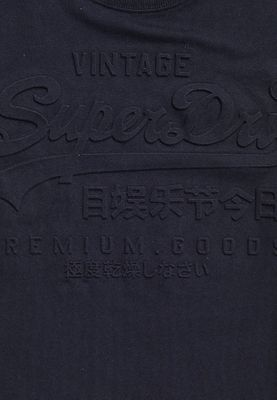 Superdry T-Shirt Herren VINTAGE AUTHETIC EMBOSSED TEE Black – Bild 2