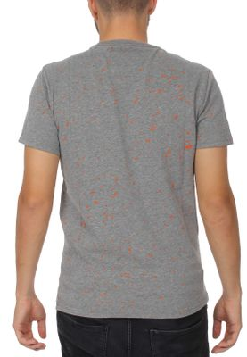 Superdry T-Shirt Herren WORLDWIDE TICKETTYPE SPLAT TEE Dark Marl – Bild 1