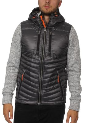 Superdry Jacke Herren STORM HYBRID Light Grey Grit – Bild 0