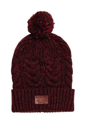 Superdry Beanie JACOB BEANIE Bright Burgundy Twist