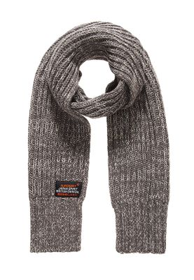 Superdry Schal SUPER CABLE SCARF Grey Granite Twist
