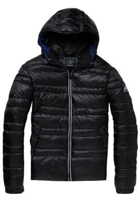 Scotch & Soda Jacket Men CLASSIC HOODED DOWN JACKET 145177 Schwarz Black 0008