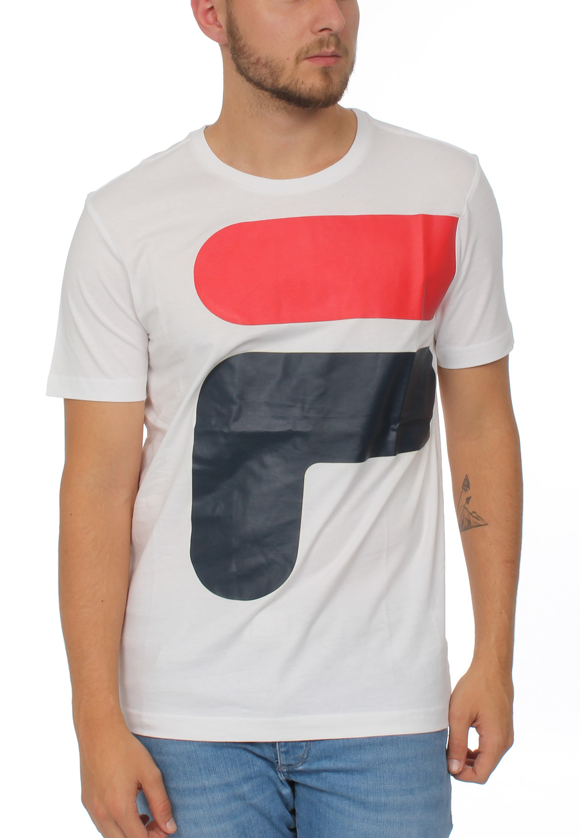 Fila T-Shirt Herren CARTER TEE Weiß M67 Bright White Herren T-Shirts ...