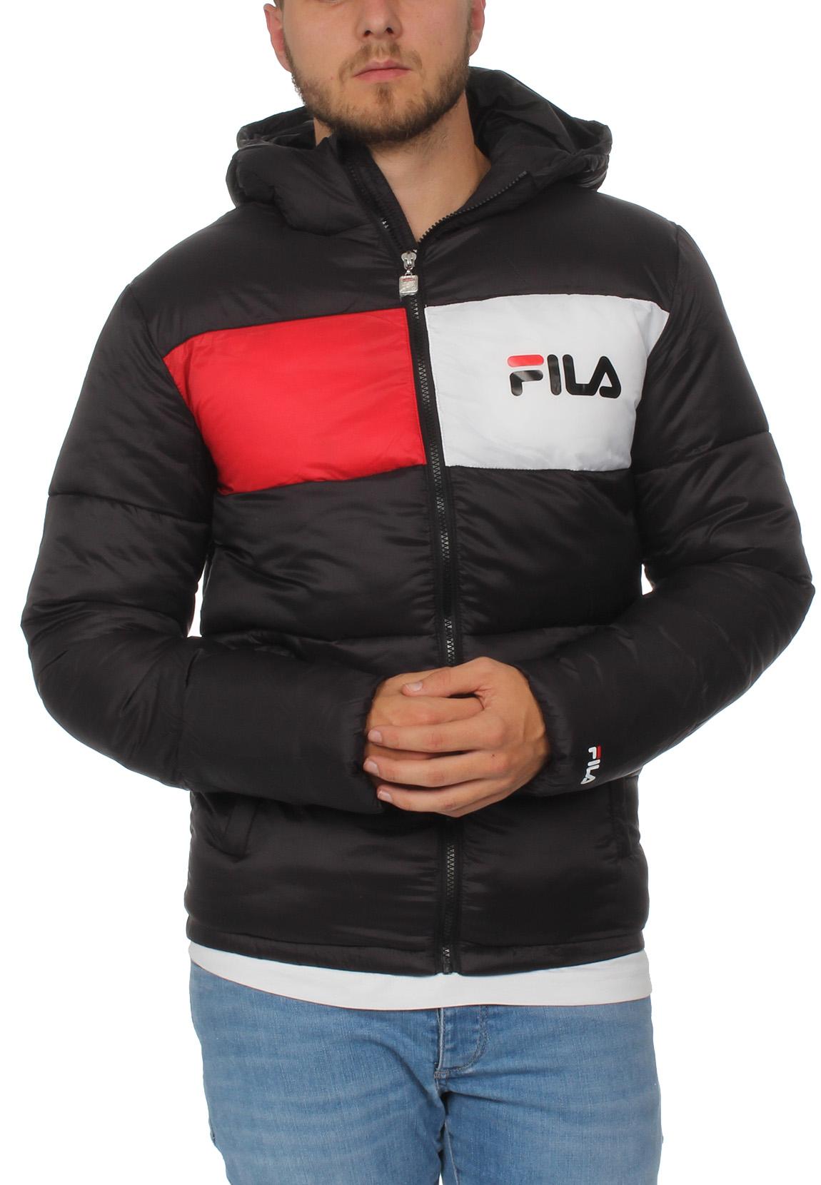 buy popular c1d2f 5d3f5 Fila Jacken Herren FLOYD PUFF HOOD JACKET Schwarz 002 Black