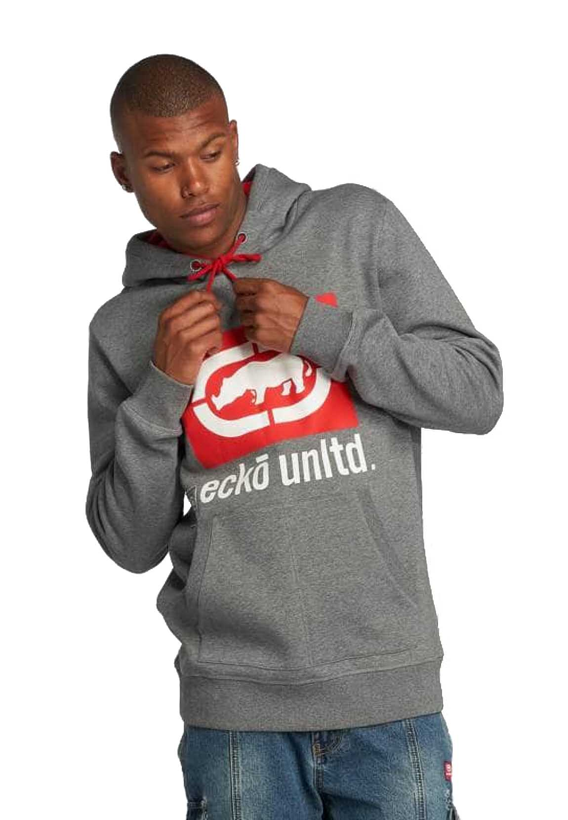 Ecko Unltd Sweatshirt Herren WEST END HOODY Grey Grau