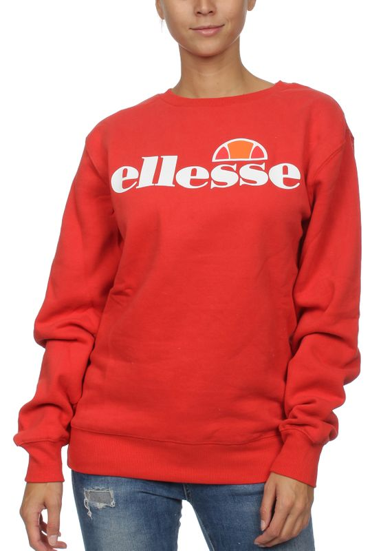 Ellesse Sweater Damen AGATA CREW SWEAT Rot Scarlet
