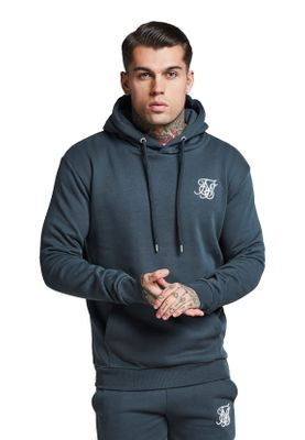 SikSilk Sweater Herren MUSCLE FIT OVERHEAD HOODIE SS-13056 Urban Green – Bild 0