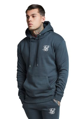 SikSilk Sweater Herren MUSCLE FIT OVERHEAD HOODIE SS-13056 Urban Green – Bild 1