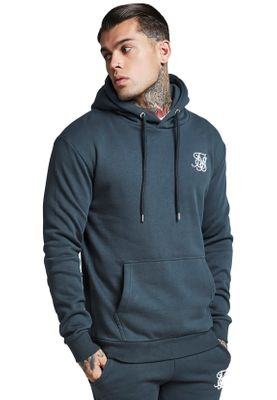 SikSilk Sweater Herren MUSCLE FIT OVERHEAD HOODIE SS-13056 Urban Green – Bild 2