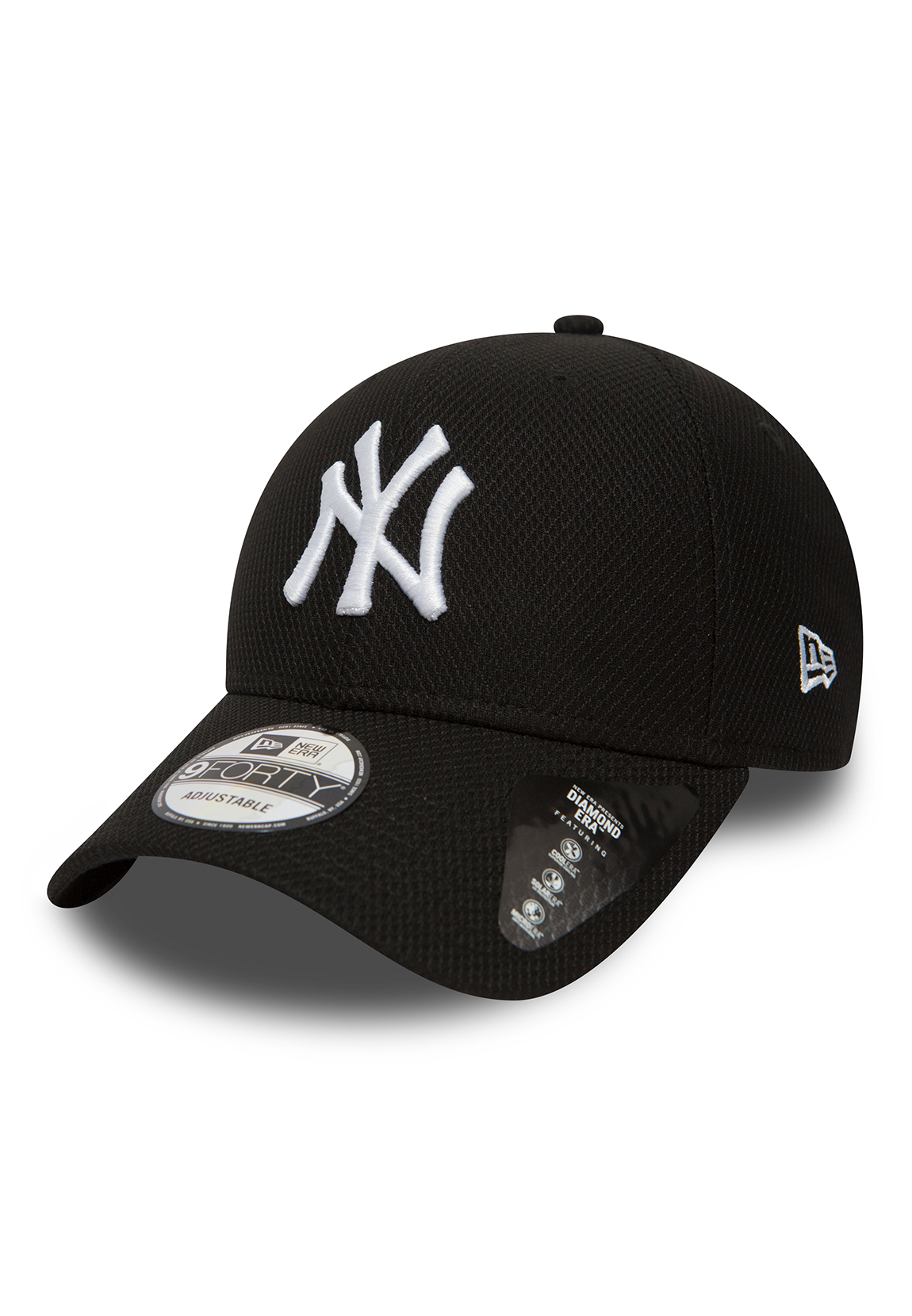 Details about New Era Diamond Era 9Forty Adjustable Cap Ny Yankees Black 992f593c45dc