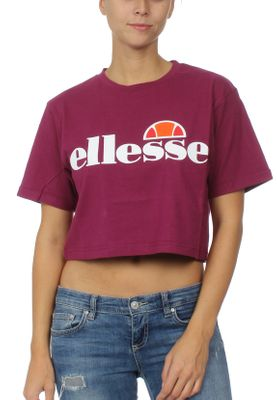 Ellesse T-Shirt Damen ALBERTA CROP T-SHIRT Lila Purple – Bild 0