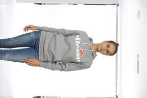 Ellesse Sweater Damen TORICES OH HOODY Grau Ath Grey Marl – Bild 1