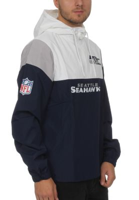New Era Colour Block Windbreaker Herren SEATTLE SEAHAWKS Weiß Blau – Bild 1