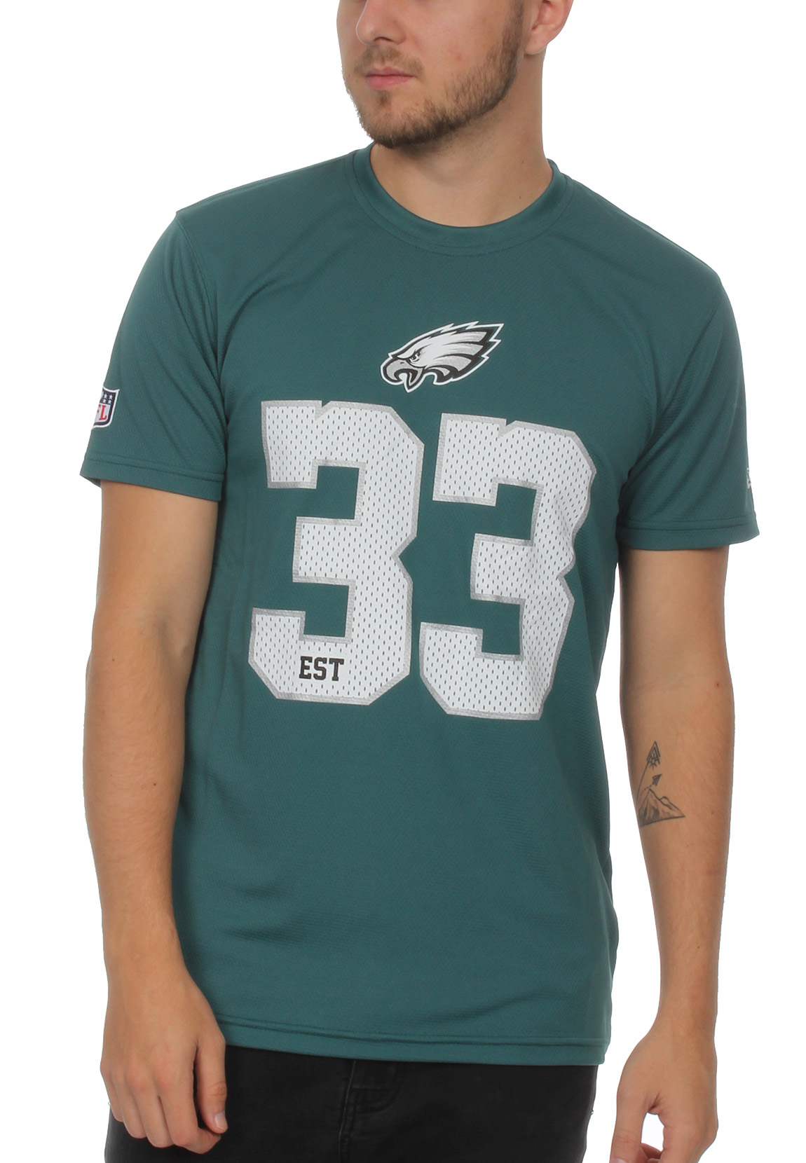 buy popular 63af7 777d6 Details about New Era NFL Team Supporters Men's T-Shirt Philadelphia Eagles  Green