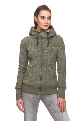 Ragwear Zipper Damen TERRY ZIP B 1821-30044 Grün Olive 5031
