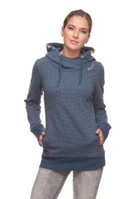 Ragwear Sweater Damen GRIPY B ORGANIC 1821-30055 Blau Blue 2040
