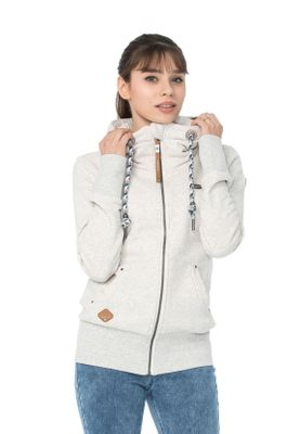 Ragwear Zipper Damen NESKA ZIP 1821-30076 Weiß White 7000