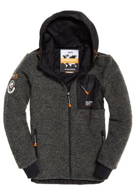 Superdry Jacke Herren MOUNTAIN SHERPA ZIPHOOD Dark Grey Marl – Bild 0