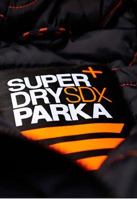 Superdry Jacke Herren SDX PARKA Super Dark Navy – Bild 1