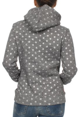 Superdry Damen Sweater VNTGE LOGO STAR AOP ENTRY HOOD Grey Rugged – Bild 1