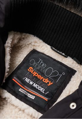 Superdry Jacke Damen NEW MODEL MICROFIBRE PARKA Black – Bild 1