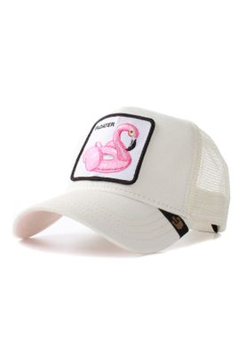 Goorin Bros. Trucker Cap FLOATER Flamingo Weiß Pink – Bild 0