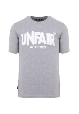 Unfair Athletics Herren T-Shirt CLASSIC LABEL UNFR18-070 Grau Grey Melange – Bild 0